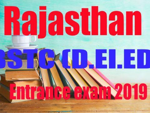 Rajasthan BSTC Application form 2019