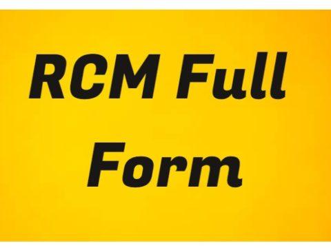 RCM Full Form