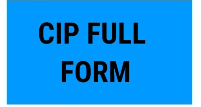 CIP Full Form